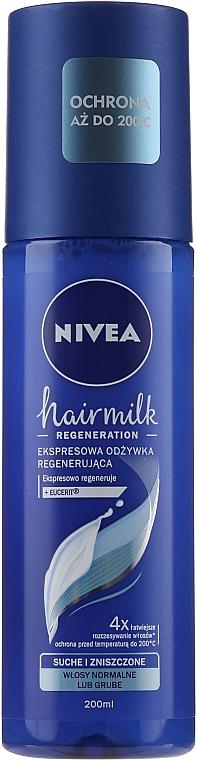 Après-shampooing régénérant pour cheveux normaux - Nivea Hairmilk Conditioner — Photo N1