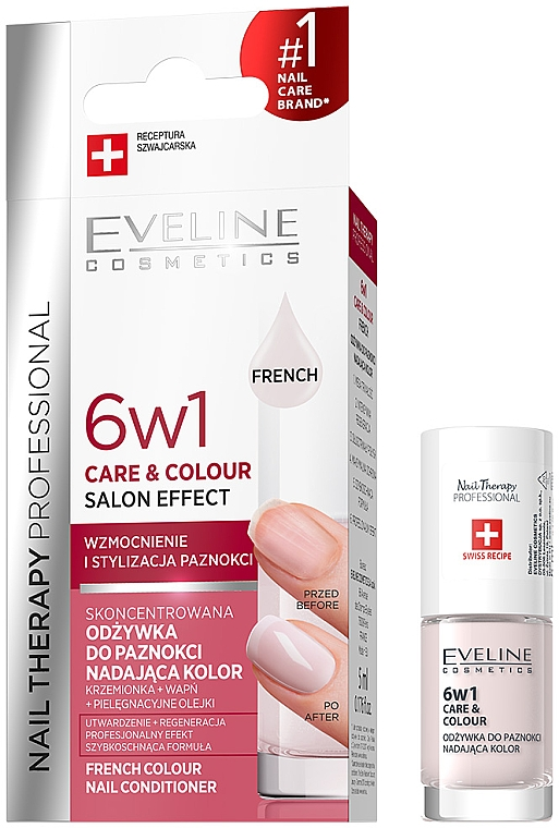 Revitalisant coloré pour ongles - Eveline Cosmetics Nail Therapy Professional