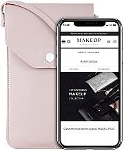 Parfums et Produits cosmétiques Étui pour téléphone, rose poudré, Cross - Makeup Phone Case Crossbody Powder