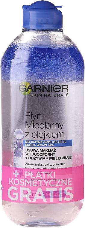 Garnier Skin Naturals - Set (eau micellaire/400ml + disques démaquillants/15pc)