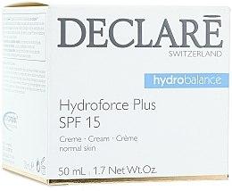 Parfums et Produits cosmétiques Crème à l'acide hyaluronique et vitamine E pour visage - Declare Hydroforce Plus SPF 15 Cream