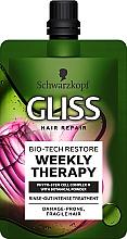 Parfums et Produits cosmétiques Traitement intensif à la poudre de coquille d'arganier pour cheveux - Gliss Kur Bio-Tech Restore Treatment
