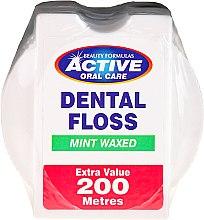 Parfums et Produits cosmétiques Fil dentaire ciré goût menthe, 200m - Beauty Formulas Active Oral Care Dental Floss Mint Waxed 200m