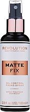 Parfums et Produits cosmétiques Spray matifiant fixateur de maquillage - Makeup Revolution Matte Fix Oil Control Fixing Spray
