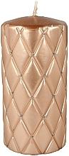 Parfums et Produits cosmétiques Bougie décorative 7x14 cm, or rose - Artman Florence Candle