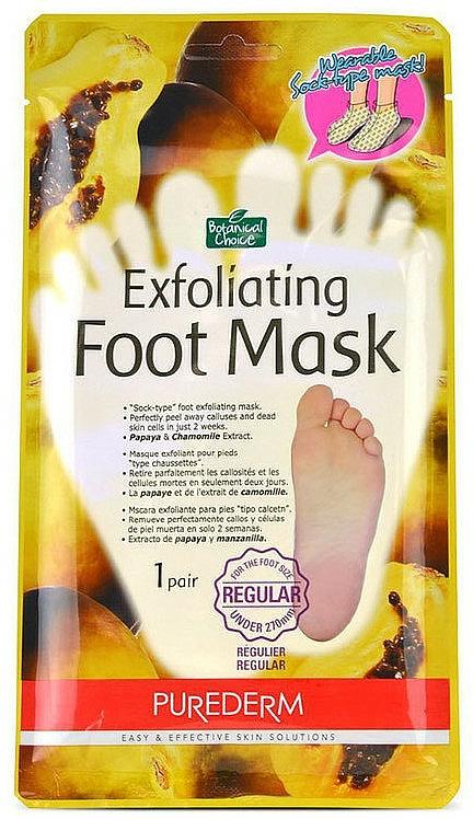 Masque exfoliant à l'extrait de camomille pour pieds - Purederm Exfoliating Foot Mask