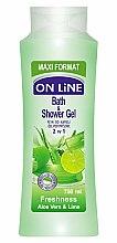Parfums et Produits cosmétiques Gel bain et douche à l'aloe vera et lime - On Line Freshness Bath & Shower Gel
