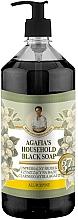 Parfums et Produits cosmétiques Savon liquide noir universel - Les recettes de babouchka Agafia Herbes et Tisanes
