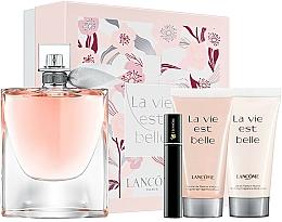 Parfums et Produits cosmétiques Lancome La Vie Est Belle - Coffret (eau de parfum/100ml + lotion corporelle/50ml + gel douche/50ml + mascara/2ml)