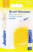 Parfums et Produits cosmétiques Brossettes interdentaires L 0.7 mm, 10 pcs, jaune - Jordan Brush Between