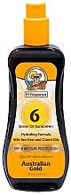 Parfums et Produits cosmétiques Spray solaire à l'huile d'arbre à thé et de carotte - Australian Gold Tea Tree&Carrot Oils Spray SPF6