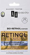 Parfums et Produits cosmétiques Masque rajeunissant pour la zone du menton, cou et décolleté - AA Retinol Intensive Bio-Retinol Complex 50+ 60+ 70+ Mask