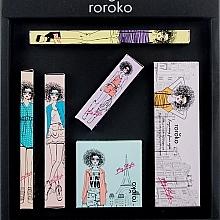 Parfums et Produits cosmétiques Roroko Natural Nude Make-up Box (crayon sourcils/0.4g + fards à paupières/8g + eyeliner/0.8g + blush/6g + mascara/8g + rouge à lèvres/3.5g) - Kit maqillage