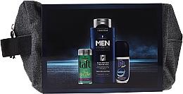 Parfums et Produits cosmétiques Schwarzkopf Men - Set (poudre pour cheveux/10ml + shampooing/250ml + déodorant roll-on/50ml + trousse de toilette)