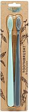 Parfums et Produits cosmétiques Brosses à dents 2pcs - The Natural Family Co Bio Brush Rivermint & Monsoon Mist