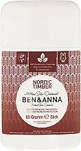 Parfums et Produits cosmétiques Déodorant stick à base de soude - Ben & Anna Natural Soda Deodorant Nordic Timber