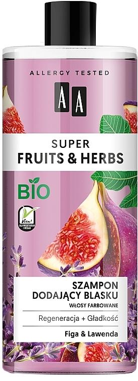 Shampooing à l'extrait de figue et lavande - AA Super Fruits & Herbs Shampoo Fig & Lavender