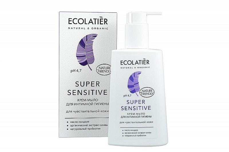 Savon-crème bio pour hygiène intime - Ecolatier Super Sensitive