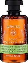 Parfums et Produits cosmétiques Gel douche aux huiles essentielles et extrait de propolis - Apivita Tonic Mountain Tea Shower Gel with Essential Oils