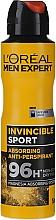 Parfums et Produits cosmétiques Déodorant spray anti-transpirant - L'Oreal Men Expert Invincible Sport Deodorant 96H