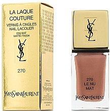 Parfums et Produits cosmétiques Vernis à ongles fini mat - Yves Saint Laurent La Laque Couture The Mats