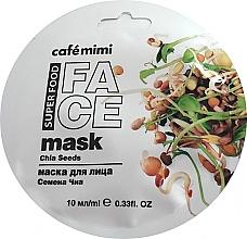 Parfums et Produits cosmétiques Masque aux graines de chia pour visage - Cafe Mimi Face Mask