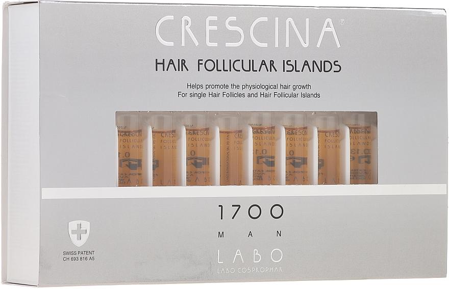 Traitement en ampoules au glycogène pour cheveux 1700 - Crescina Hair Follicular Islands Re-Growth 1700