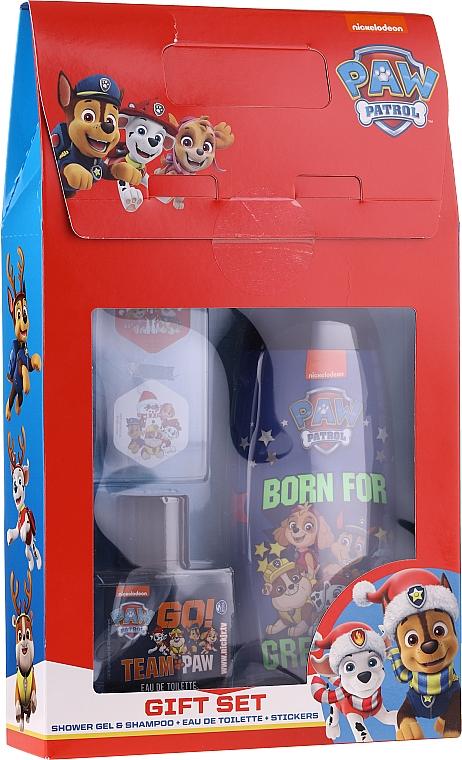 Uroda For Kids Paw Patrol Red - Set (gel douche et shampooing/250ml + eau de toilette/50ml + autocollants)