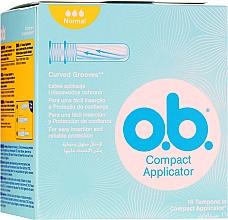 Parfums et Produits cosmétiques Tampons, 16 pièces - O.b. Compact Applicator Normal Tampons