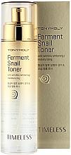 Parfums et Produits cosmétiques Lotion tonique anti-rides à la bave d'escargot fermentée pour visage - Tony Moly Timeless Ferment Snail Toner