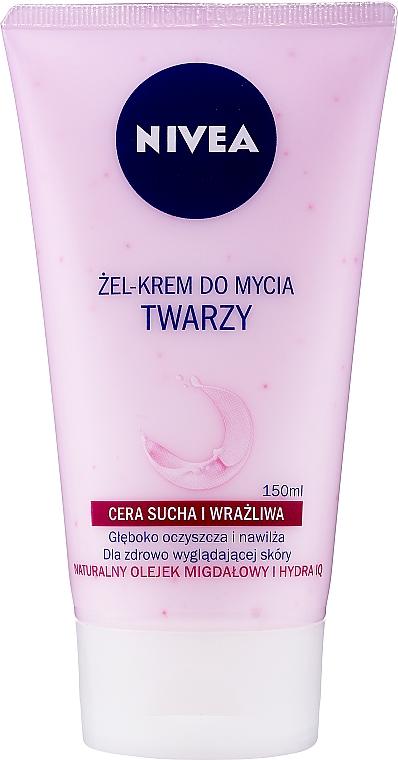 Gel-crème nettoyant à l'huile d'amande naturelle pour visage - Nivea Visage Cleansing Soft Cream Gel