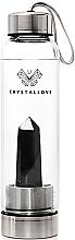 Parfums et Produits cosmétiques Gourde d'eau avec pierre obsidienne noire, 500ml - Crystallove