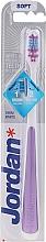 Parfums et Produits cosmétiques Brosse à dents, souple, violet - Jordan Shiny White Toothbrush Soft