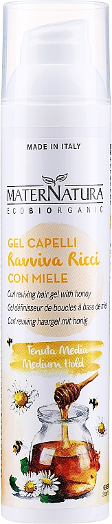 Fluide-gel au miel pour cheveux - MaterNatura Curl Reviving Hair Gel With Honey