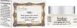 Parfums et Produits cosmétiques Crème au lait d'ânesse bio pour visage - Sostar Anti-ageing Face Cream Enriched With Donkey Milk