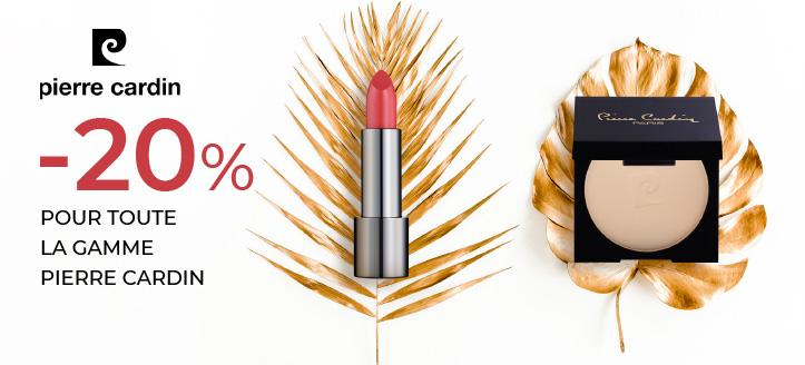 -20% de remise sur toute la gamme Pierre Cardin. Le prix indiqué est après la remise annoncée