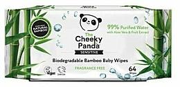 Parfums et Produits cosmétiques Lingettes humides vegan en bambou - The Cheeky Panda Biodegradable Bamboo Baby Wipes