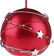 Parfums et Produits cosmétiques Bougie décorative ronde 8 cm, rouge - Artman Christmas Garland