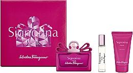 Parfums et Produits cosmétiques Salvatore Ferragamo Signorina Ribelle - Coffret (eau de parfum/100ml + eau de parfum/10ml + lotion corporelle/50ml)
