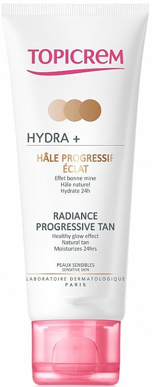 Crème auto-bronzante progressive pour visage et cou - Topicrem Hydra+ Radiance Progressive Tan — Photo N1