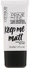 Parfums et Produits cosmétiques Base de maquillage matifiante et lissante - Catrice Prime And Fine Pore Refining Anti-Shine