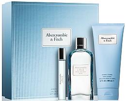 Parfums et Produits cosmétiques Abercrombie & Fitch First Instinct Blue Women - Coffret (eau de parfum/100ml + émulsion pour le corps/100ml + eau de parfum/15ml)