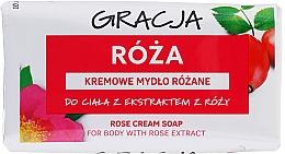 Parfums et Produits cosmétiques Savon crème à l'extrait de rose - Gracja Rose Cream Soap