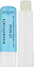Parfums et Produits cosmétiques Baume à lèvres à l'huile d colza et vitamine E - Oriflame Essentials Lip Balm With Vitamin E And Camola Oil