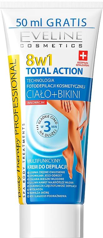 Crème dépilatoire pour corps et zone bikini - Eveline Cosmetics 8w1 Total Action