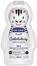 Parfums et Produits cosmétiques Gel nettoyant pour visage, corps et cheveux Chocolat blanc - On Line Le Petit White Chocolate 3 In 1 Hair Body Face Wash