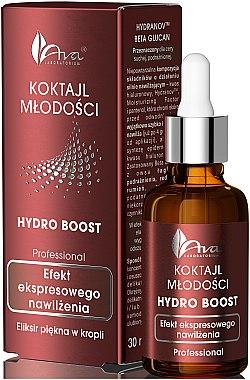 Cocktail jeunesse à l'acide hyaluronique, bêta-glucane et panthénol pour visage - Ava Laboratorium Hydro Boost