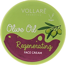 Parfums et Produits cosmétiques Crème à l'huile d'olive pour visage - Vollare Regenerating Olive Oil Face Cream
