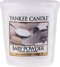 Parfums et Produits cosmétiques Bougie parfumée votive Talc pour peau de bébé - Yankee Candle Scented Votive Baby Powder