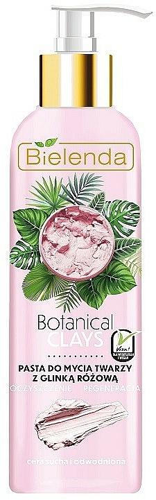 Pâte nettoyante à l'argile rose pour visage - Bielenda Botanical Clays Vegan Face Wash Paste Pink Clay